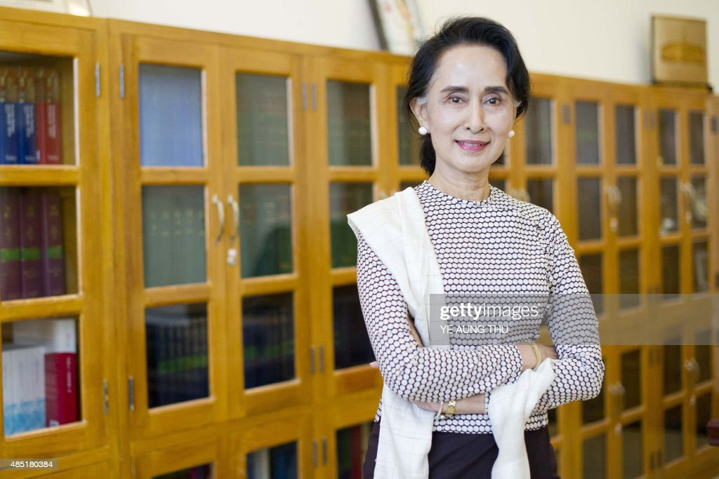 MACNAMARA Chairperson of National League for Democracy (NLD) <a gi-track='captionPersonalityLinkClicked' href=/galleries/search?phrase=Aung+San+Suu+Kyi&family=editorial&specificpeople=214208 ng-click='$event.stopPropagation()'>Aung San Suu Kyi</a> poses for a photograph during an interview at Parliament in Naypyidaw on August 25, 2015. Myanmars <a gi-track='captionPersonalityLinkClicked' href=/galleries/search?phrase=Aung+San+Suu+Kyi&family=editorial&specificpeople=214208 ng-click='$event.stopPropagation()'>Aung San Suu Kyi</a> is confident that her opposition party can form a government after historic elections in November, if they are free and fair, but raised concerns over irregularities as the poll stokes political tensions. In an exclusive interview, the Nobel Peace Prize winner told AFP that she expects her National League for Democracy Party will clinch a majority in the first nationwide poll it has contested in quarter of a century in the Southeast Asian nation, which was stifled for decades under army rule. AFP PHOTO / Ye Aung THU