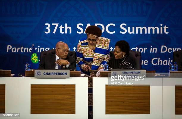 Chairperson of the SADC Council and Minister of International Relations and Cooperation of the Republic of South Africa Maite Mashabane and SADC...