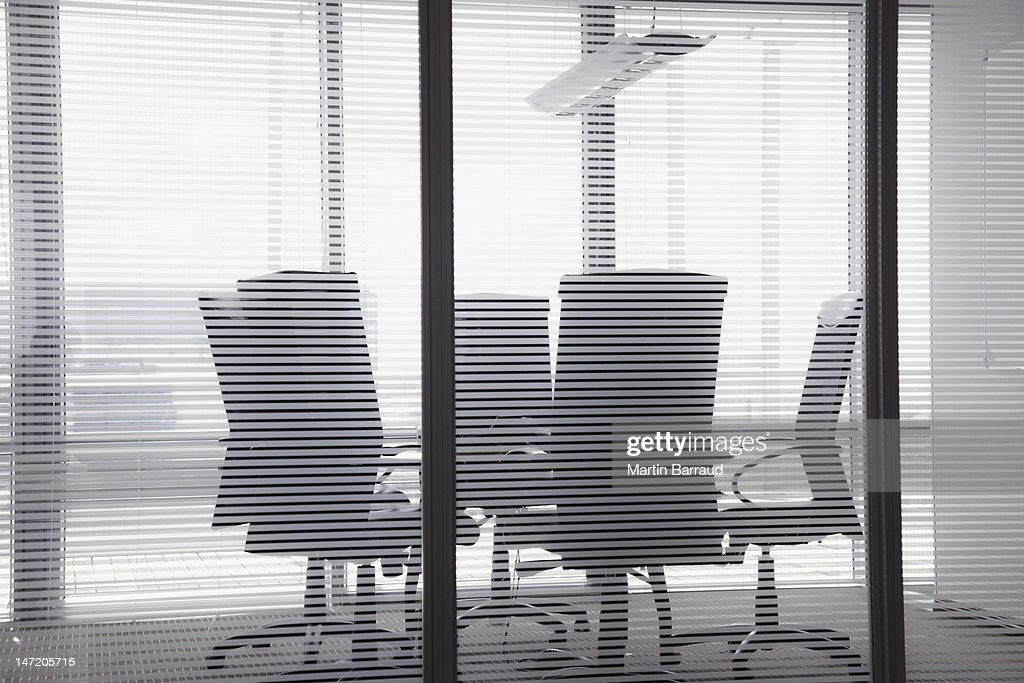 Chairs and table in conference room : Stock Photo
