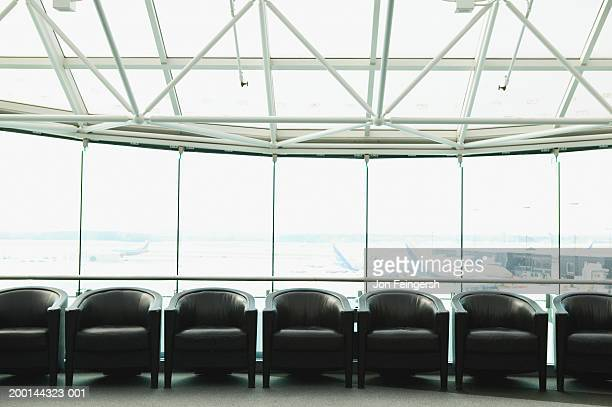 Chairs in airport waiting area