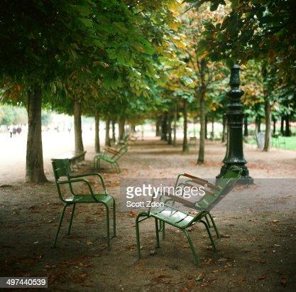 Chairs in Jardin des Tuileries, Paris