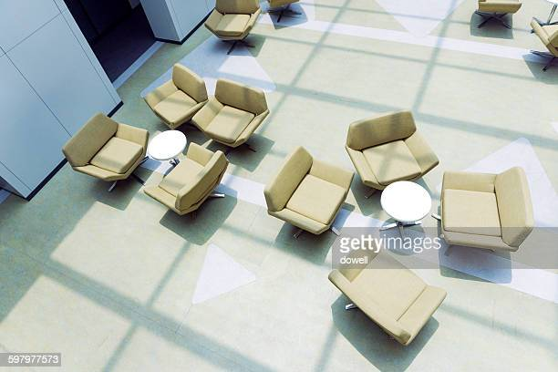 chairs in lounge of office building