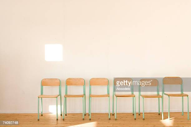 Chairs lined up