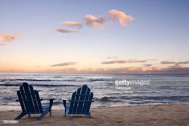 Chairs on beach
