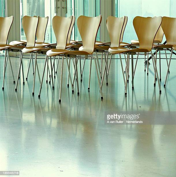 Chairs on reflecting floor
