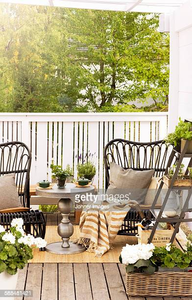 Chairs on terrace