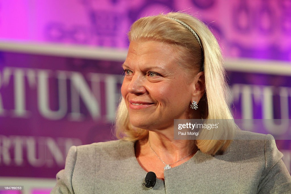 Chairwoman and CEO of IBM Ginni Rometty speaks onstage at the FORTUNE Most Powerful Women Summit on October 16, 2013 in Washington, DC.