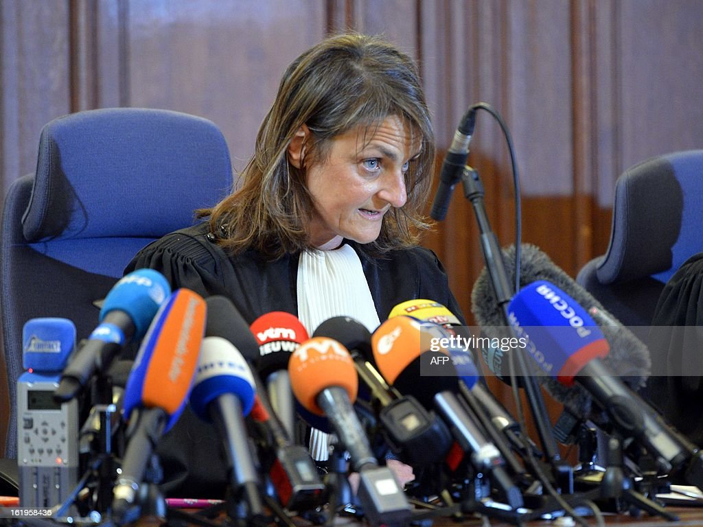 Chairwoman of the court Magali Clavie talks to the press on February 18, 2013 at Brussels' courthouse, after an appearance of notorious pedophile Marc Dutroux before the execution court to request an early release from prison to serve out the rest of his sentence at home under electronic surveillance. The court turned down the request by notorious child sex killer Marc Dutroux . The ruling against Belgium's 'most hated man,' cited the risk he might offend again after being jailed for life in 2004 for the kidnap and rape between June 1995 and August 1996 of six young and teenage girls, four of whom died.