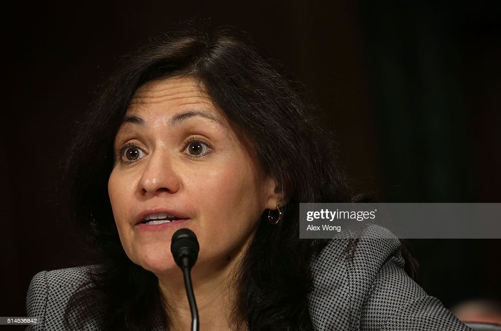 Chairwoman of the Federal Trade Commission Edith Ramirez testifies during a hearing before the Antitrust Competition Policy and Consumer Rights...