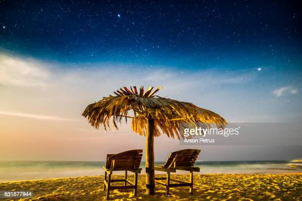 Chaise lounge at night, Koh Chang, Thailand