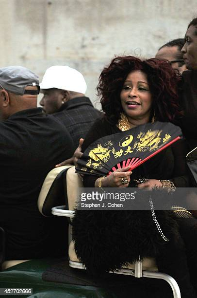 Chaka Kahn during day 1 of the Macy's Music Festival at Paul Brown Stadium on July 25 2014 in Cincinnati Ohio