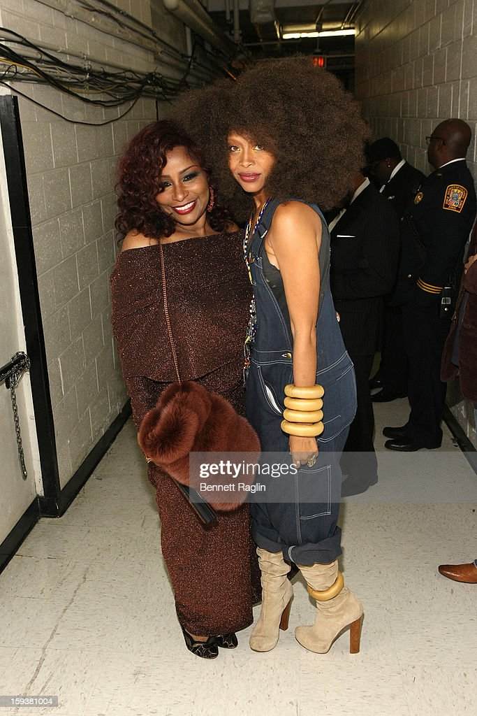 Chaka Khan and Erykah Badu attend BET Honors 2013: Backstage at Warner Theatre on January 12, 2013 in Washington, DC.