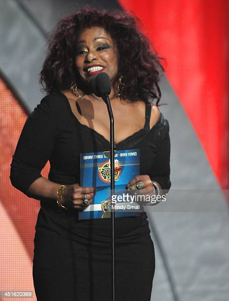 Chaka Khan appears during the Soul Train Awards 2013 at the Orleans Hotel Casino on November 8 2013 in Las Vegas Nevada