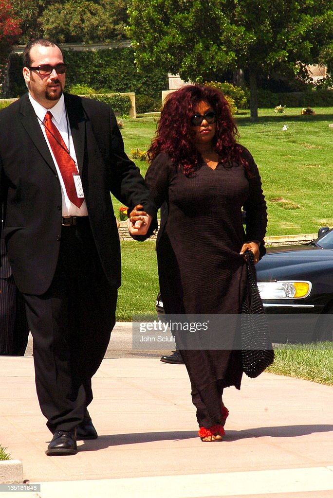 <a gi-track='captionPersonalityLinkClicked' href=/galleries/search?phrase=Chaka+Khan&family=editorial&specificpeople=208691 ng-click='$event.stopPropagation()'>Chaka Khan</a> during A Celebration of the Life of Rick James - Arrivals at Forest Lawn in Burbank, California, United States.