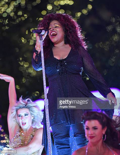 Chaka Khan performs at ABC's 'Dancing With The Stars' Season Finale hosted by The Grove at The Grove on November 24 2015 in Los Angeles California