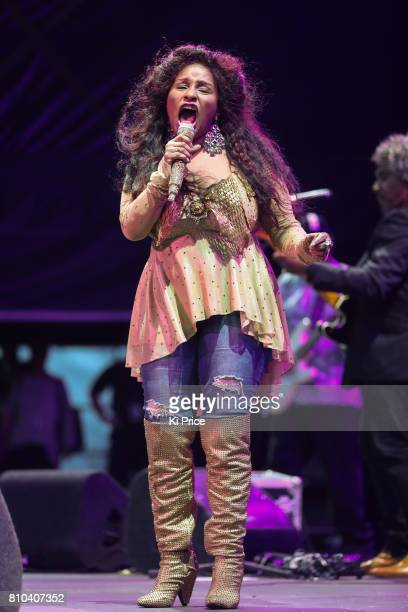 Chaka Khan performs at the Henley Festival on July 7 2017 in HenleyonThames England