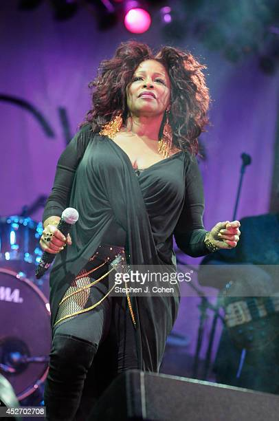 Chaka Khan performs during day 1 of the Macy's Music Festival at Paul Brown Stadium on July 25 2014 in Cincinnati Ohio