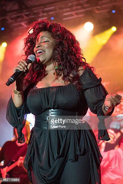 Chaka Khan performs during day two of the 2015 FOLD Festival at Martha Clara Vineyards on August 5 2015 in Riverhead New York