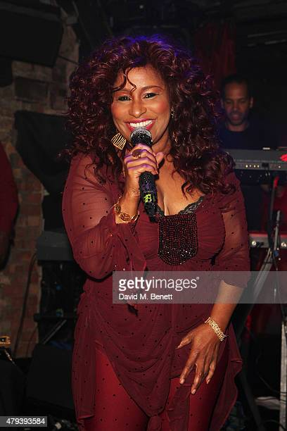 Chaka Khan performs during the Red Bull Tropical Edition Party at The Box Soho on July 3 2015 in London England Guests enjoyed a performance full of...