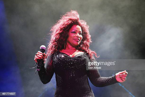 Chaka Khan performs live at Sydney Festival 2014 at The Domain on January 11 2014 in Sydney Australia