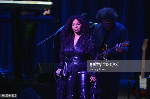 Chaka Khan preforms onstage at The Adrienne Arsht Center for the Performing Arts Knight Concert Hall on February 17 2017 in Miami Florida