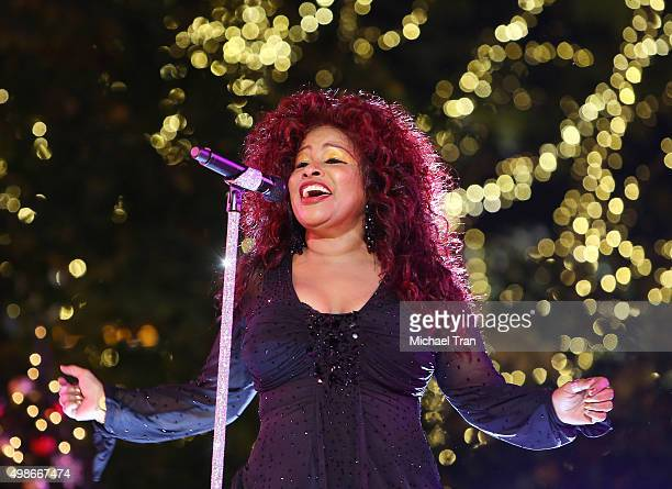 Chaka Khan performs onstage during ABC's 'Dancing With The Stars' live finale held at The Grove on November 24 2015 in Los Angeles California