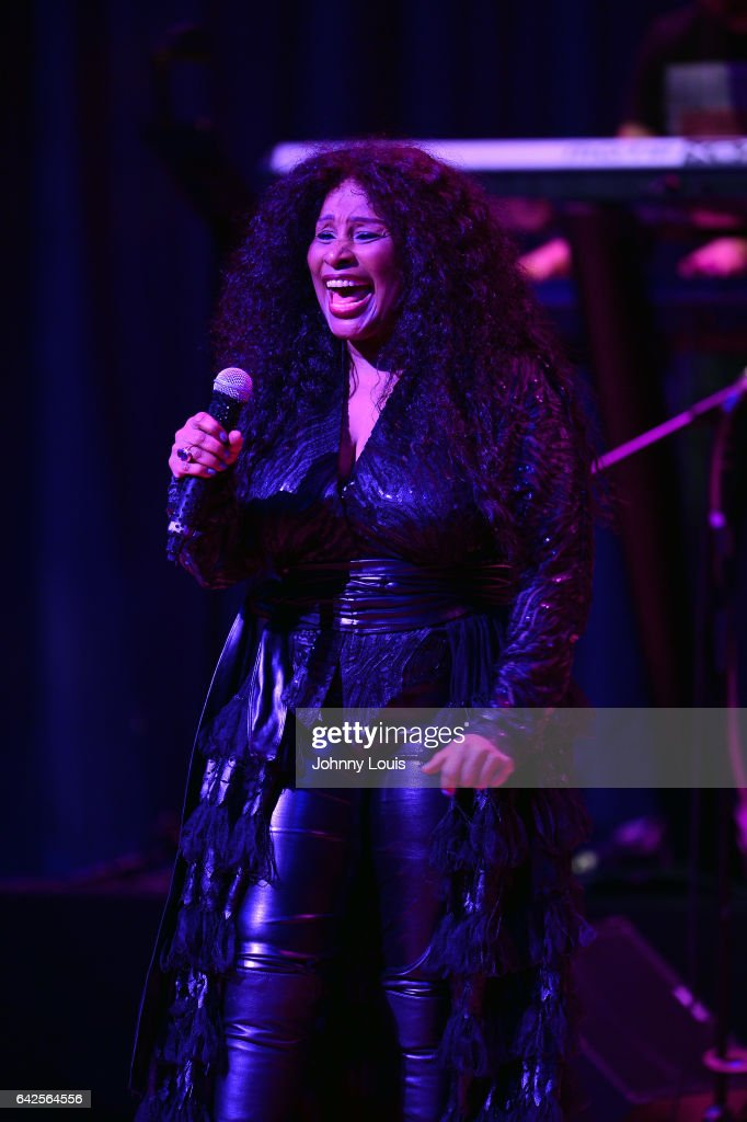 Chaka Khan preforms onstage at The Adrienne Arsht Center for the Performing Arts - Knight Concert Hall on February 17, 2017 in Miami, Florida.