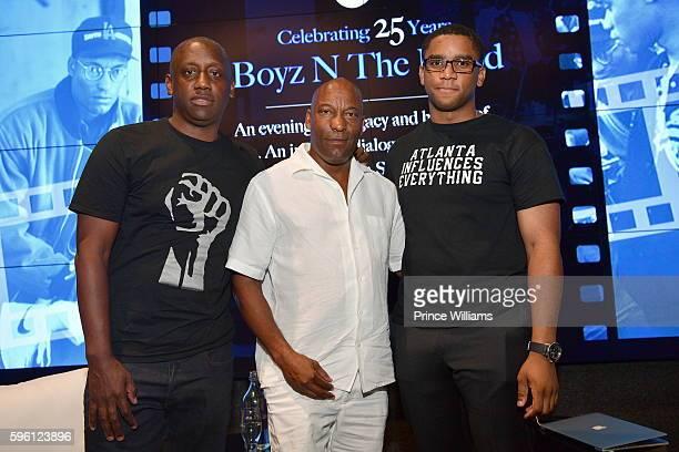 Chaka Zulu and John Singleton attend Celebrating 25 Years Boyz N The Hood on August 23 2016 in Atlanta Georgia