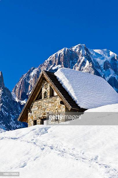 Chalet in the snow