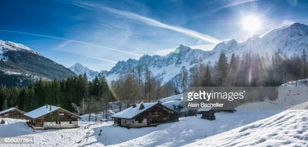 chalet sous la neige color