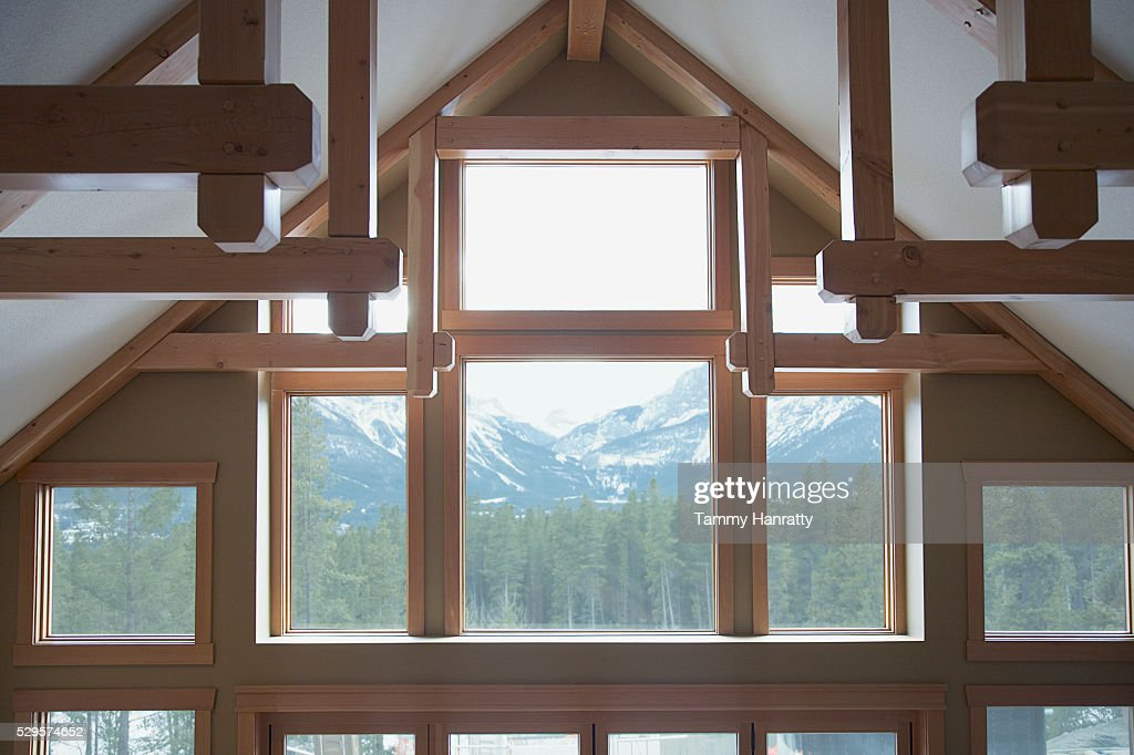 Chalet windows : Stock Photo