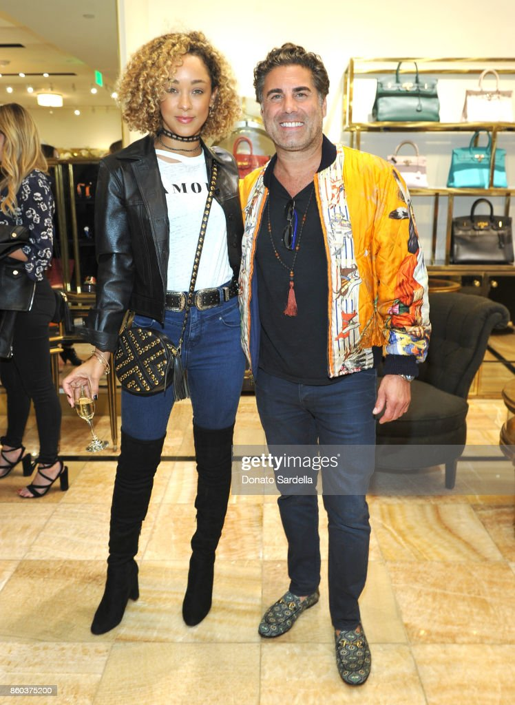 Chaley Rose (L) and co-founder of What Goes Around Comes Around Gerard Maione at What Goes Around Comes Around Beverly Hills Anniversary on October 11, 2017 in Beverly Hills, California.