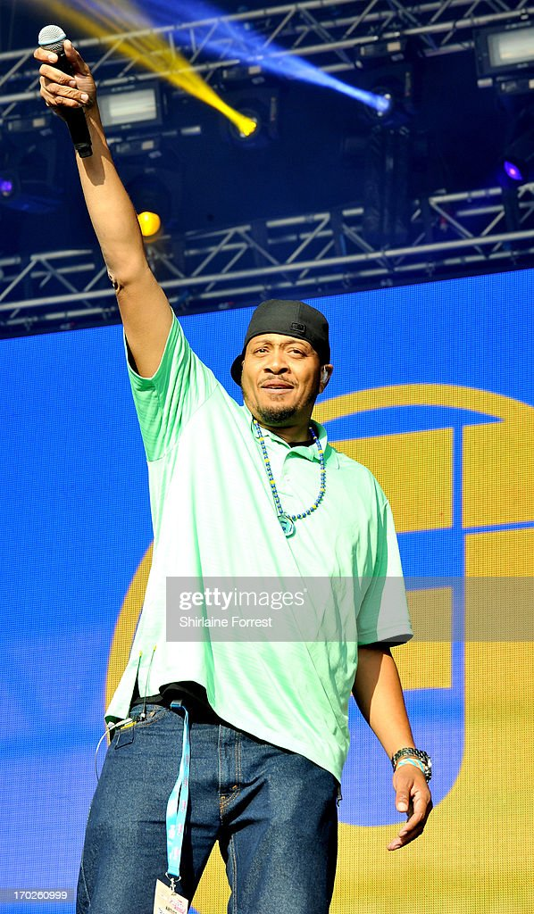 Chali 2na of Jurassic 5 performs at Day 2 of the Parklife Festival at Heaton Park on June 9, 2013 in Manchester, England.