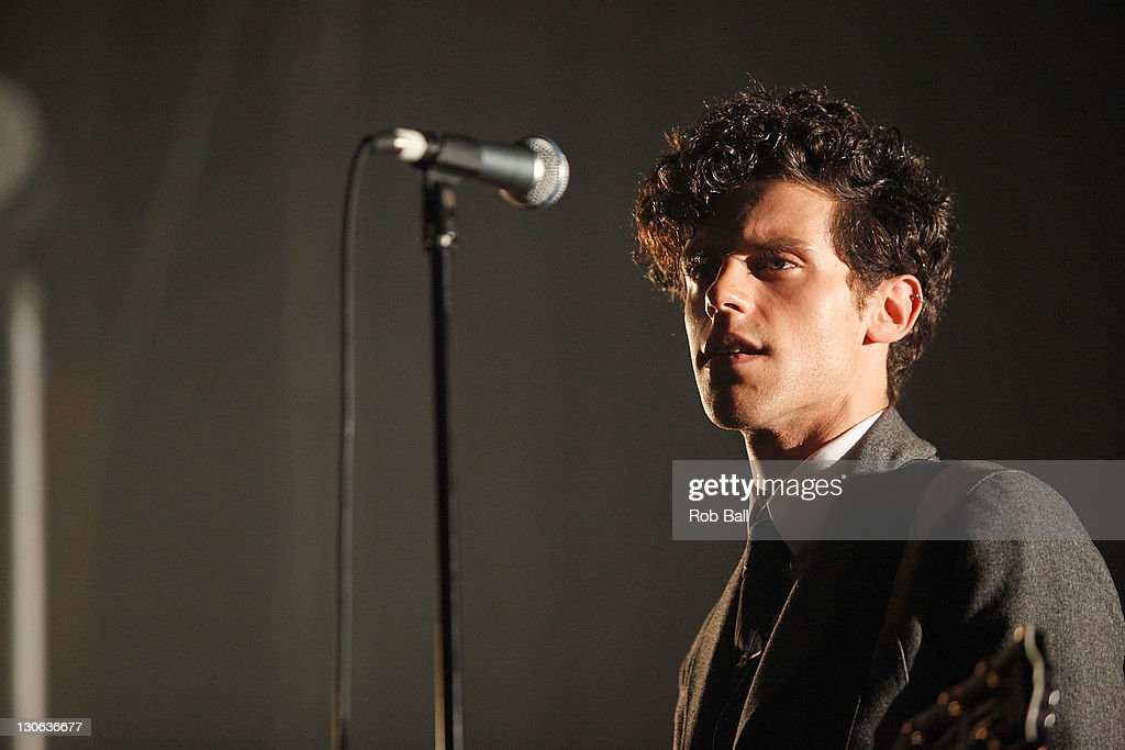 Chalie Fink from Noah and the Whale performs at Southampton Guildhall on October 27 2011 in Southampton England