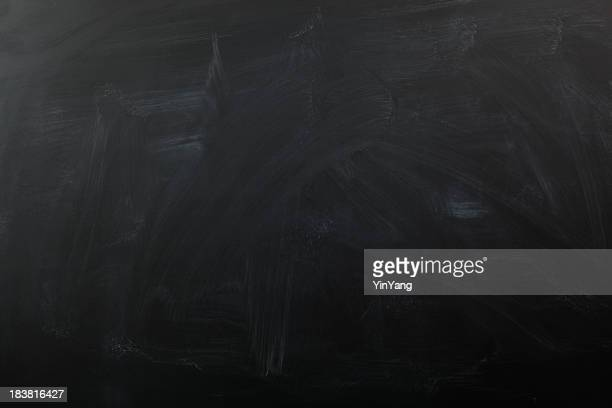 Chalk Blackboard, a Black Color, Blank Slate, Education Background Texture
