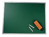 Chalk Board, Chalk and an Eraser