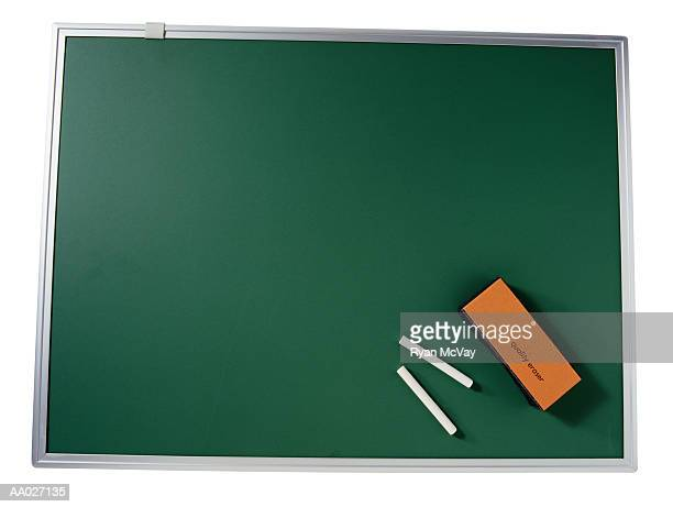 Chalk Board, Chalk and an Eraser