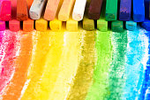 Chalk pastel different colors