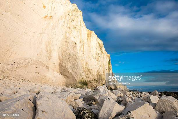 Chalk rubble and Seven Sisters from the west