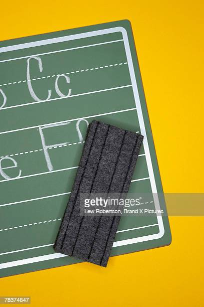 Chalkboard and eraser