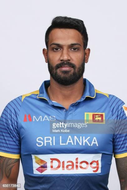 Chamara Kapugedara of Sri Lanka poses during a Sri Lanka headshots session at the Realm Hotel on February 14 2017 in Canberra Australia