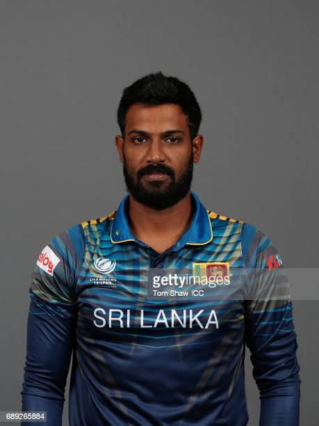 Chamara Kapugedera of Sri Lanka poses for a picture during the Sri Lanka Portrait Session for the ICC Champions Trophy at Grand Hyatt on May 27 2017...