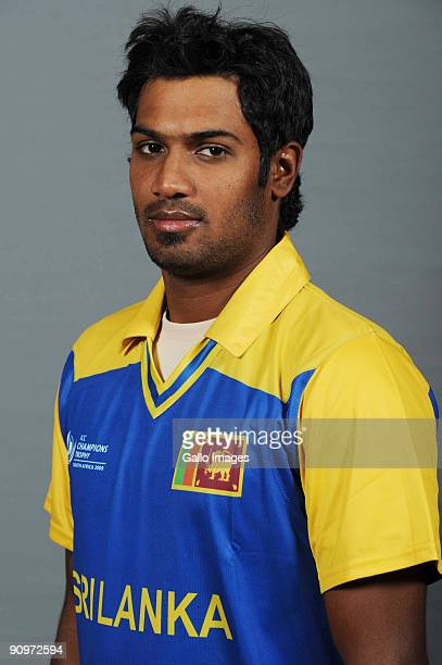 Chamara Kapugedera poses during the ICC Champions photocall session of Sri Lanka at Sandton Sun on September 19 2009 in Sandton South Africa