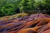 Chamarel seven coloured earths on Mauritius island