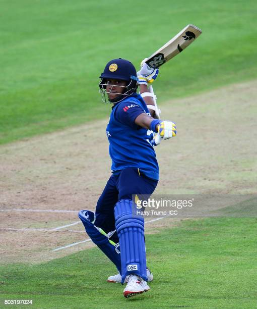 Chamari Athapaththu of Sri Lanka celebrates her half century during the ICC Women's World Cup 2017 match between Sri Lanka and Australia on June 29...