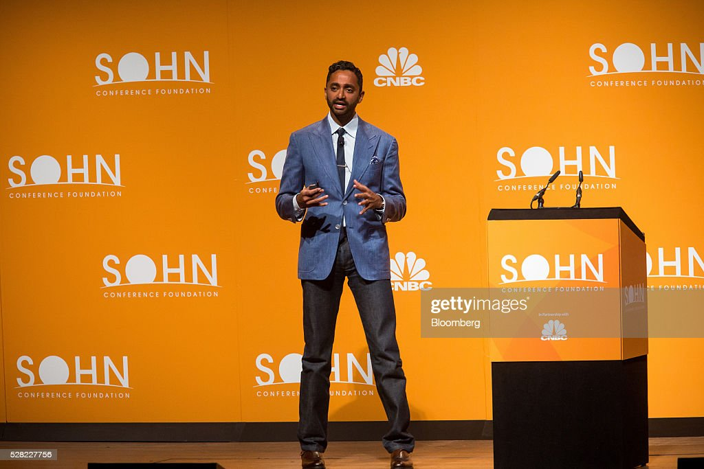 Chamath Palihapitiya, founder and chief executive officer of Social Capital LP, speaks during the 21st annual Sohn Investment Conference in New York, U.S., on Wednesday, May 4, 2015. Since 1996 the Sohn Investment Conference has brought together the world's savviest investors to share fresh insights and strategies in support of pediatric cancer research and treatment. Photographer: Michael Nagle/Bloomberg via Getty Images