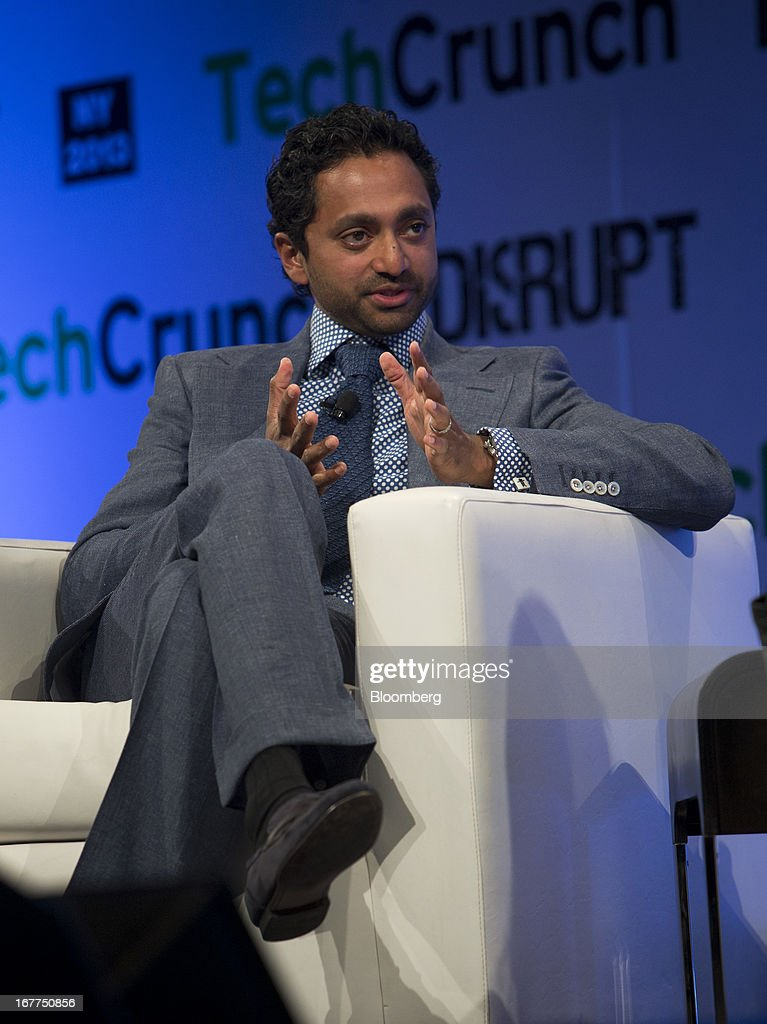 Chamath Palihapitiya, founder and managing partner of The Social+Capital Partnership, speaks during the TechCrunch Disrupt NYC 2013 conference in New York, U.S., on Monday, April 29, 2013. The event features leaders from various technology fields and includes a competition for the best new startup company. Photographer: Scott Eells/Bloomberg via Getty Images