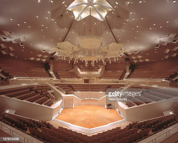 Chamber Music Hall Berlin Germany Architect Hans Scharoun And Edgar Wisniewski Chamber Music Hall Square On View Of The Stage And Stalls