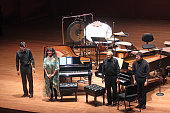 Chamber Music Society performing at Alice Tully Hall on Tuesday night February 3 2015This imageFrom left Christopher Froh Wu Han Gilbert Kalish and...