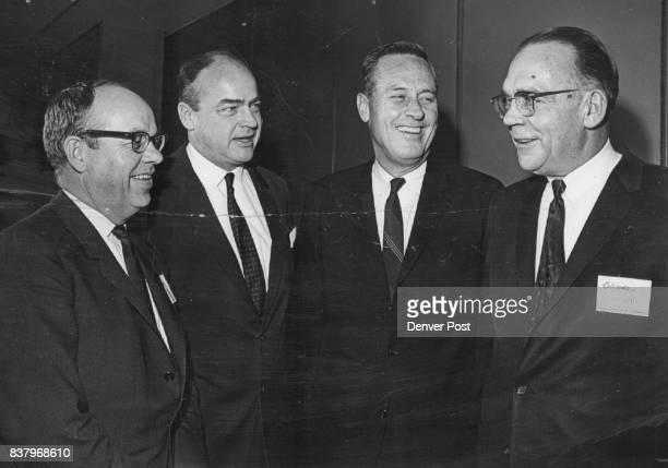 Chamber of Commerce Groups Host Colorado Legislators at Banquet From left are Rep John R P Wheeler William S Garnsey III Gov John Love and Sen Floyd...